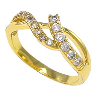 Cubic Zirconia Micro Pave Brass Finger Ring, plated, micro pave cubic zirconia, more colors for choice, nickel, lead & cadmium free, 6.5mm, US Ring Size:5, Sold By PC