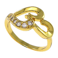 Cubic Zirconia Micro Pave Brass Finger Ring, plated, micro pave cubic zirconia, more colors for choice, nickel, lead & cadmium free, 11mm, US Ring Size:6, Sold By PC