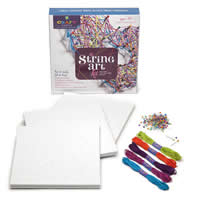 Loopdedoo Bracelet Kit, foam board & cotton thread & headpin, for children, 250x250x51mm, Sold By Set