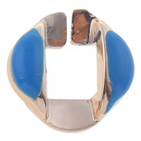 CCB Plastic Linking Ring, Copper Coated Plastic, UV plating, enamel, blue, nickel, lead & cadmium free, 17x7mm, Hole:Approx 7x8mm, 1000PCs/Bag, Sold By Bag