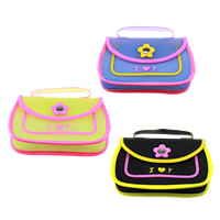 Children Bags, Silicone, with Iron, Rectangle, word I love you, platinum color plated, for children & with flower pattern, more colors for choice, 191x145x50mm, Length:Approx 48 Inch, Sold By PC