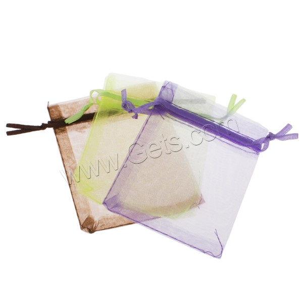 Organza Jewelry Pouches, solid color, more colors for choice, 10x15cm, Sold By PC
