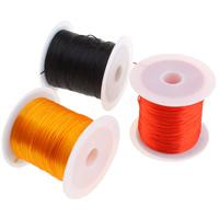 Elastic Thread, with plastic spool, mixed colors, 1mm, 49x44mm, 25PCs/Bag, 10m/PC, Sold By Bag