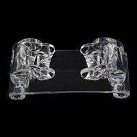Plastic Bracelet Display, transparent, white, 100x40x40mm, Sold By PC