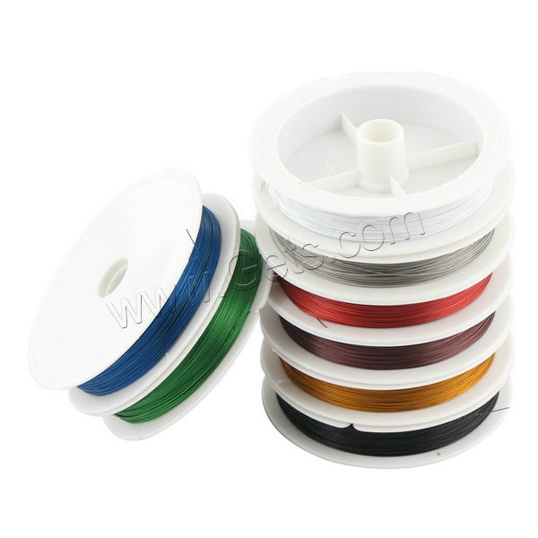 Tiger Tail Wire, with plastic spool & Nylon Coated Rubber Rope, 7-yarn & different size for choice, more colors for choice, 50m/PC, Sold By PC