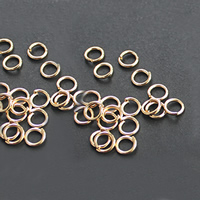 Zinc Alloy Open Jump Ring, Donut, gold color plated, nickel, lead & cadmium free, 6mm, Approx 110PCs/Bag, Sold By Bag