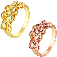 comeon® Finger Ring, Brass, plated, different size for choice, more colors for choice, 9mm, Sold By PC