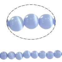 Cats Eye Beads, Round, different size for choice, light blue, Sold By PC