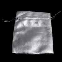 Organza Jewelry Pouches, solid color, silver, 12x17cm, Sold By PC