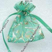 Organza Jewelry Pouches, green, 5x7cm, Sold By PC