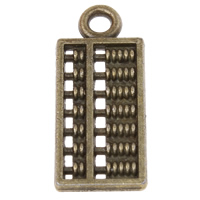 Zinc Alloy Tool Pendants, Abacus, plated, more colors for choice, 8x19x1.5mm, Hole:Approx 1.5mm, Approx 1425PCs/KG, Sold By KG