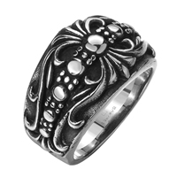 comeon® Finger Ring, Stainless Steel, different size for choice & blacken, 26x16mm, Sold By PC