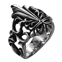 comeon® Finger Ring, Stainless Steel, different size for choice & blacken, 22x22mm, Sold By PC