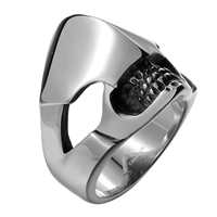 comeon® Finger Ring, Stainless Steel, different size for choice & blacken, 25x26mm, Sold By PC