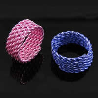 Iron Finger Ring, more colors for choice, Hole:Approx 13mm, Sold By PC