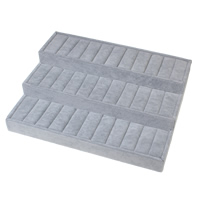 Velveteen Bracelet Display, with Cardboard, grey, 350x270x98mm, Sold By PC