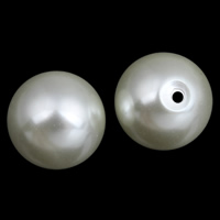 Glass Pearl Beads, Round, different size for choice, white, Grade A, Hole:Approx 1mm, 1000PCs/Bag, Sold By Bag