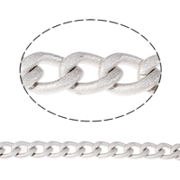 Aluminum Twist Oval Chain, platinum color plated, different size for choice, nickel, lead & cadmium free, Sold By m