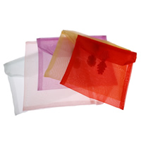 Organza Jewelry Pouches, Square, more colors for choice, 14x14cm, Sold By PC