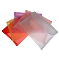 Organza Jewelry Pouches, Rectangle, more colors for choice, 18x15cm, Sold By PC