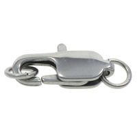 Brass Lobster Claw Clasp, platinum color plated, nickel, lead & cadmium free, 20x7.5x3mm, Hole:Approx 3mm, Sold By PC