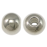 Stainless Steel Beads, Drum, original color, 4x5mm, Hole:Approx 1.7mm, Sold By PC