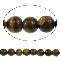 Tiger Eye Beads, Round, more sizes for choice, brown, Grade AB, Hole:Approx 1mm, Length:Approx 15 Inch, Sold By Strand