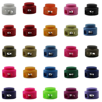 Spring Stopper Buckle, Plastic, with Iron, more colors for choice, 18x15mm, Hole:Approx 4x3mm, Sold By PC
