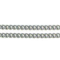 Stainless Steel Curb Chain, plated, more colors for choice, 2x0.6mm, Sold By m