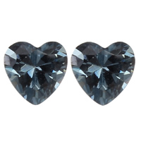 Cubic Zirconia Stones, Heart, different size for choice & rivoli back & faceted, more colors for choice, Grade AAA, 100PCs/Bag, Sold By Bag
