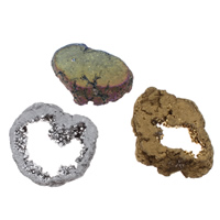 Druzy Beads, Ice Quartz Agate, natural, druzy style & different size for choice & no hole, more colors for choice, Sold By PC