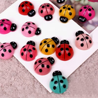 Mobile Phone DIY Decoration, Resin, Ladybug, mixed colors, 15x20mm, Sold By PC