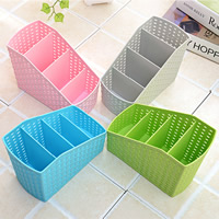Storage Box, Plastic, hollow & solid color, more colors for choice, 145x80x125mm, 50PCs/Bag, Sold By Bag