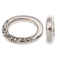 CCB Plastic Linking Ring, Copper Coated Plastic, Oval, antique silver color plated, nickel, lead & cadmium free, 21x29x5mm, Hole:Approx 12x19mm, 50PCs/Bag, Sold By Bag