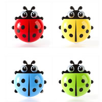 Plastic Toothbrush Holder, Ladybug, solid color, more colors for choice, 145x138mm, Sold By PC