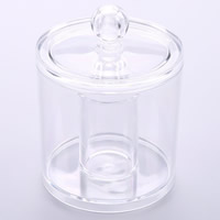 Acrylic Beads Container, Column, transparent, clear, 94x129mm, Sold By PC