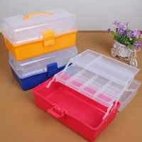 Plastic Bead Container, Rectangle, transparent, more colors for choice, 291x156x144mm, Sold By PC