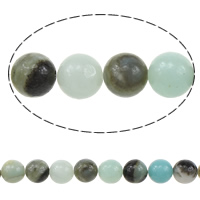 Amazonite Black Gold Bead, Round Tube, different size for choice, Hole:Approx 1mm, Length:15 Inch, Sold By Strand