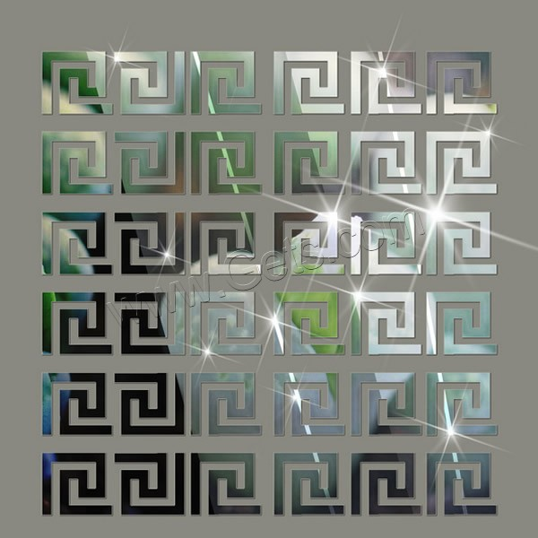Polystyr ne stickers muraux cadre effet miroir adh sif - Stickers muraux effet miroir ...