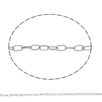 Iron Oval Chain, plated, more colors for choice, lead & cadmium free, 3x4.7x1mm, Sold By m