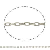 Iron Oval Chain, plated, more colors for choice, nickel, lead & cadmium free, 7x4x1mm, Sold By m