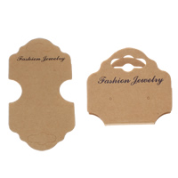 Fashion Jewelry Display Card, Cardboard, 72x130mm, 200PCs/Bag, Sold By Bag