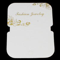 Fashion Jewelry Display Card, Cardboard, Rectangle, 88.5x116x0.5mm, 200PCs/Bag, Sold By Bag