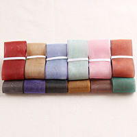 Organza Ribbon, mixed colors, 25mm, 100Strands/Bag, 1m/Strand, Sold By Bag