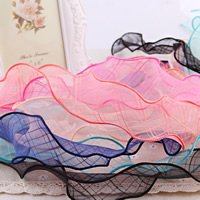 Organza Ribbon, mixed colors, 58mm, 50Strands/Bag, 1m/Strand, Sold By Bag
