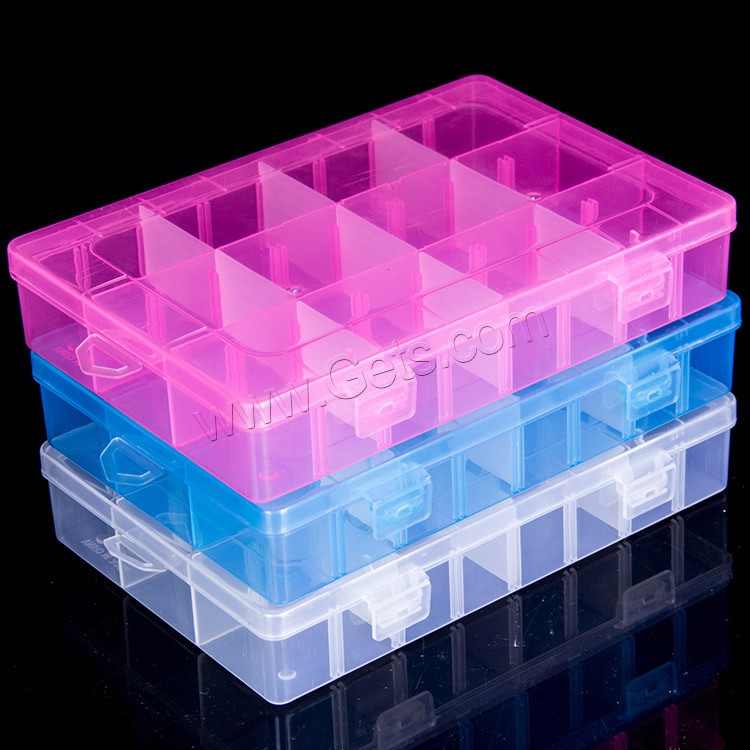 plastic bead container rectangle transparent 12 cells gets