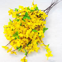 Artificial Flower Home Decoration, Spun Silk, with Plastic, yellow, 50cm, Sold By PC