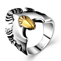 comeon® Finger Ring, Stainless Steel, plated, different size for choice & two tone & blacken, 23x26mm, Sold By PC
