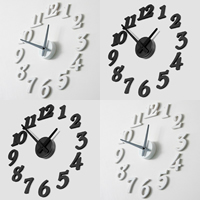DIY Wall Clock, Resin, more colors for choice, 385mm, Sold By PC