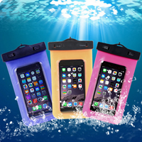 PVC Plastic Waterproof Mobile Phone Bag, with ABS Plastic, more colors for choice, 175x105mm, Sold By PC